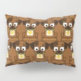 Super cute animals - Cute Brown Puppy Dog Pillow Sham