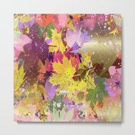 Bright Leaves Metal Print