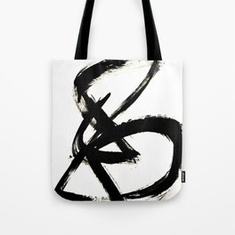 Brushstroke 3 - a simple black and white ink design Tote Bag