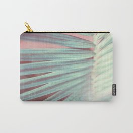 Tropical Leaf in Pink and Aqua Carry-All Pouch