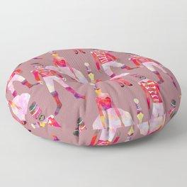 Nutcracker Ballet - Light Pink Gray Floor Pillow