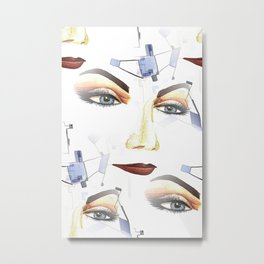 Mistique Contemporary Modern Artwork with Female Mistique Portrait Metal Print