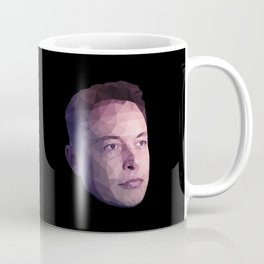 Low Poly Hero: Elon Musk Coffee Mug