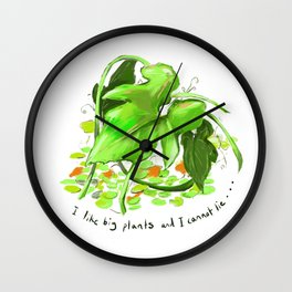 Big Plants Wall Clock