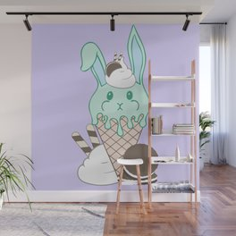 Minty Melty Bunnies Wall Mural