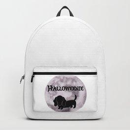 Spooky Halloweenie Moon Dog Backpack