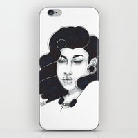 50s iPhone & iPod Skins featuring 50s girl by Cecil Addams
