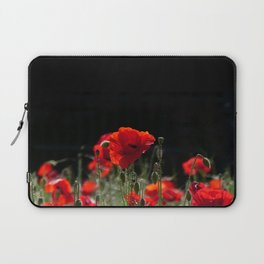 Red Poppies in bright sunlight Laptop Sleeve