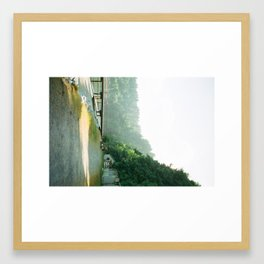 walk to the waterfront Framed Art Print