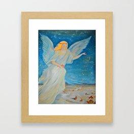 Bless me   Guardian Angels are Here   Angel of Abundance   Love Framed Art Print