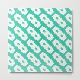 Colors and shapes in vintage retro style Metal Print