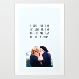 Calzona with Quote Art Print