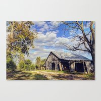 kentucky Canvas Prints featuring Kentucky Barn by JMcCool