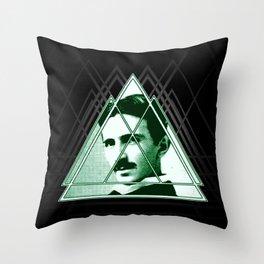 Tri-Tesla Throw Pillow