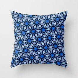 Blue stars of celebration Throw Pillow