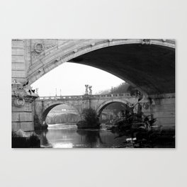 Sant'Angelo Bridge Rome Canvas Print