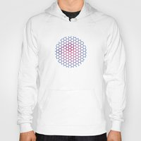 hexagon Hoodies featuring Hexagon by BoxEstudio