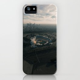 Los Angeles Stadium and Skyline iPhone Case