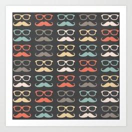 Mustache Life  Art Print