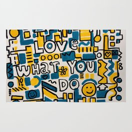 LOVE WHAT YOU DO - ORIGINAL ART PAINTING Poster Rug