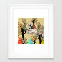 laptop Framed Art Prints featuring Found You There  by Sandra Dieckmann