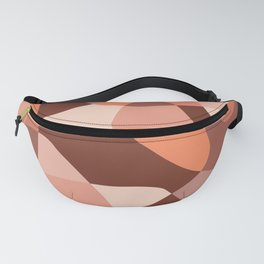 Mid Century Modern Abstract Rock Layers Salmon Pink Fanny Pack