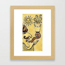 Cutting Chai Framed Art Print