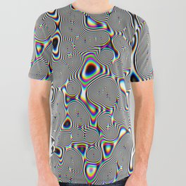 Acid Glitch All Over Graphic Tee