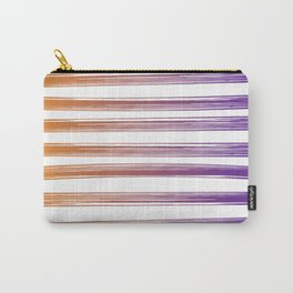 Drawn Lines Orange to Purple Ombre Carry-All Pouch