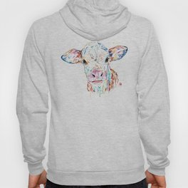 Manitoba Cow - Colorful Watercolor Painting Hoody