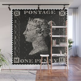 The Penny Black Postage Stamp Wall Mural
