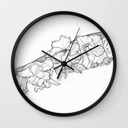 Leaning bloom Wall Clock