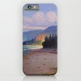Rays of Sun on the Windward side of Oahu, Hawaiian landscape painting by D. Howard Hitchcock iPhone Case