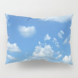 Blue sky and clouds Pillow Sham