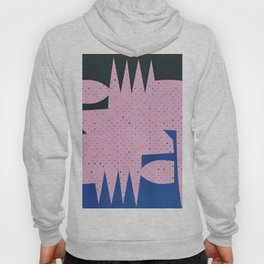Pink and Blue Abstract Art Geometric Hoody