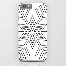 Snowflake   Black and White iPhone 6s Slim Case