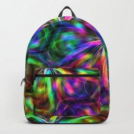 Psychedelic Mandala ornaments hand drawn nature digital abstract Backpack