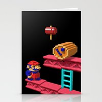 donkey kong Stationery Cards featuring Inside Donkey Kong by Metin Seven
