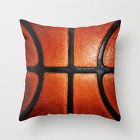 basketball Throw Pillows featuring Basketball by alifart