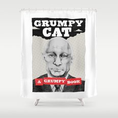 GRUMPY AS THE CAT  Shower Curtain