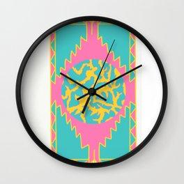 Aztec planet part2 Wall Clock