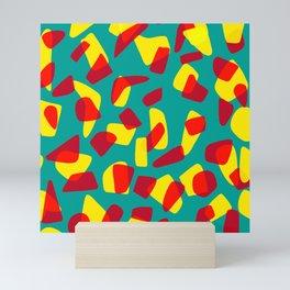 happy shapes Mini Art Print