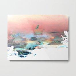Clouds like Splattered Watercolor Metal Print