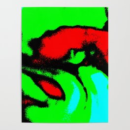 Osile multicolor red green Poster