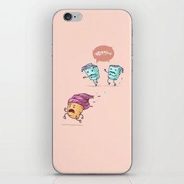 Ice cream escape ( Concept Funny Illustrations) iPhone Skin