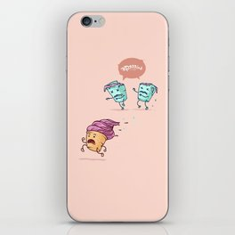 Ice cream escape ( Concept Funny Illustrations) iPhone Skin