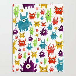 Cute little creatures Poster