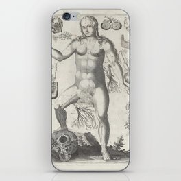 Female Anatomical Medical Chart from 1702 iPhone Skin