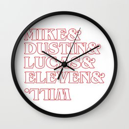 stranger thing charakter Wall Clock