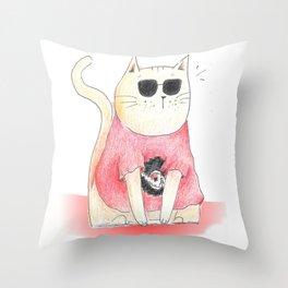 DaveCat Throw Pillow